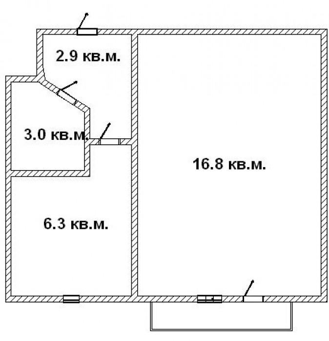 ул. 60 лет Октября, Нагорная часть города.Описание: 5 этаж 5-и этажного кирпично 6134