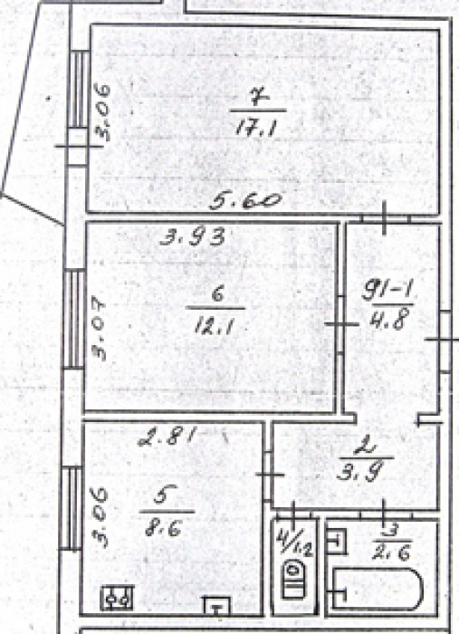 Продам квартиру в Черкасах.2-кімнатна квартира в Південно-Західному районі , вул 6159
