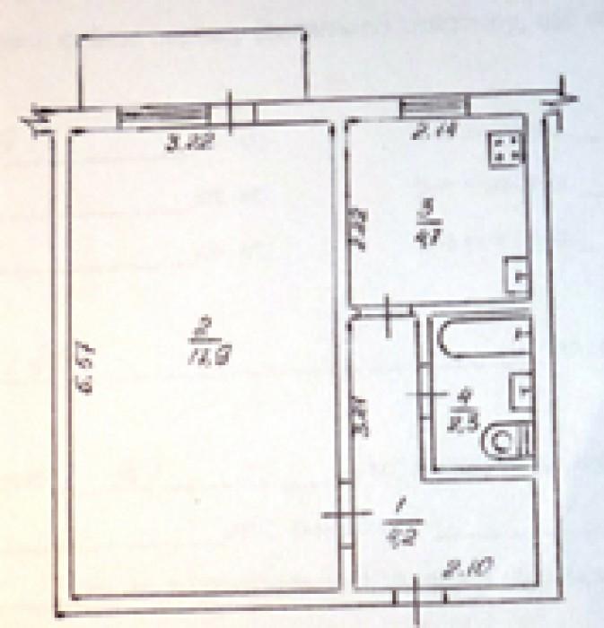 ПРОДАМ 1-комн.квартиру гостинку в г. Черкассы, район ЮЗР, на 5 этаже 9 этажного  6162