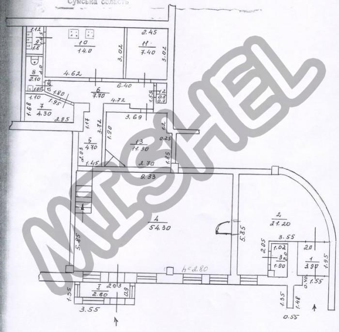 ID 907. Продажа нежилого помещения в центре г.Ахтырка, общей площадью 138м2. Пом 6496