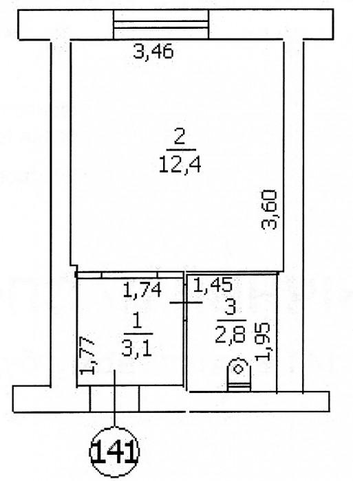 095-345-59-99., хорошее жилое состояние, ванная, туалет, разводка, от хозяина 61250