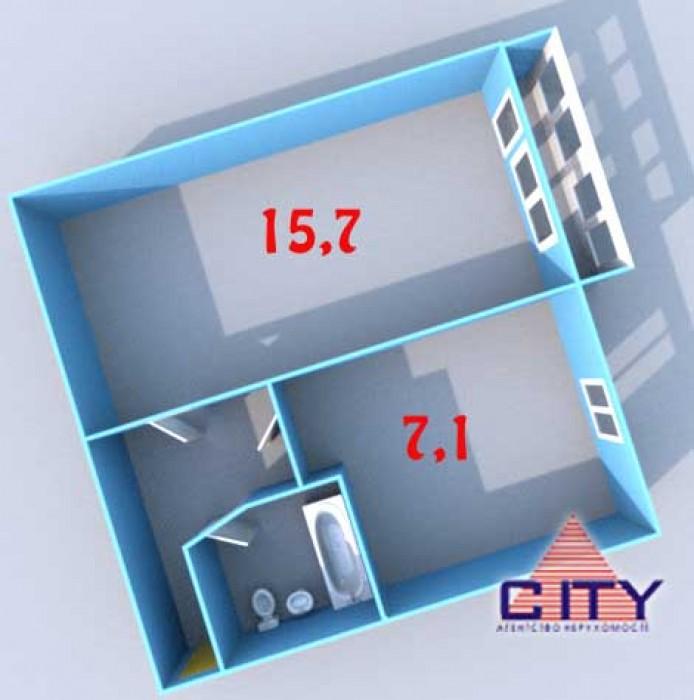 Пропонується до продажу однокімнатна квартира розташована на другому поверсі в ц 61292