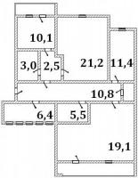 Квартира находится по адресу пер. Героев Бреста (за Французкой Булочной). 2/6 ки 6130