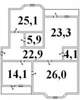 Квартал 278, д.37 (р-н церкви на Советской Армии)Описание: Квартира находится на 6140