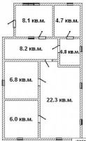 Лашки, ул. Буненого.Описание: Дом шлаколитой обложенный кирпичем, крыша шифер, 6 622