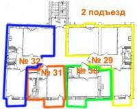 Квартира 30.  2й подъезд. ЖК Петровский посад.Генеральный подрядчик: Украинская  61305