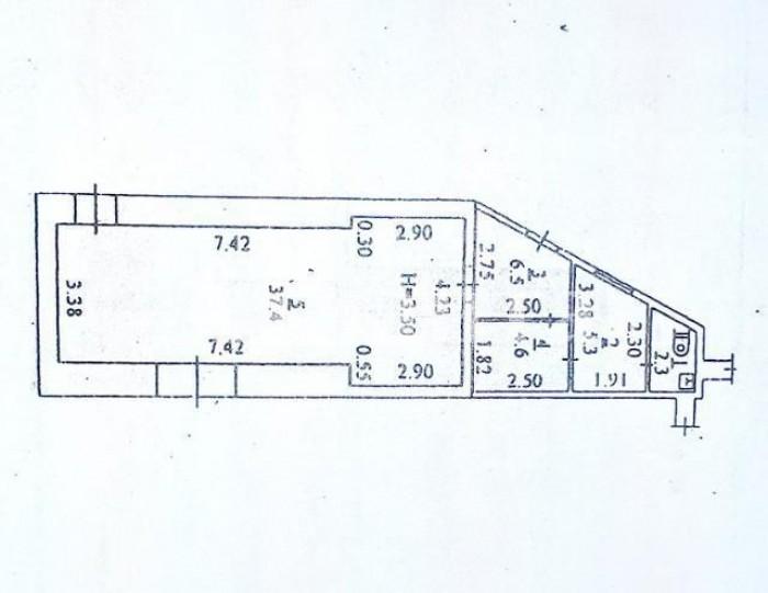 Продается фасадное помещение на Фонтанской дороге под капитальный ремонт. Идеаль 64691