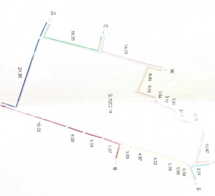 Продается участок Г-образной формы 10 соток на улице Бабушкина, фасад 2 м, есть  63416