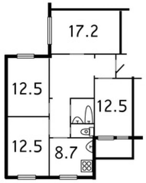 балкон засклений; с/в окремо, кахель; житловий стан; поряд школа, д/садок, супер 612074