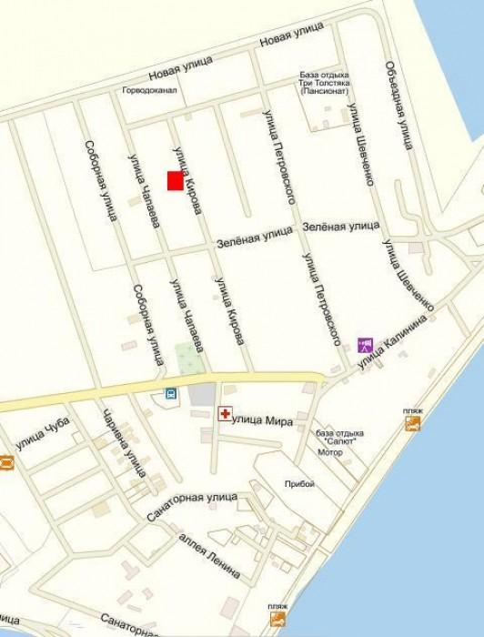 продам дом в Кирилловке (на берегу Азовского моря) : ул. Кирова, дом 77,  пгт Ки 62865