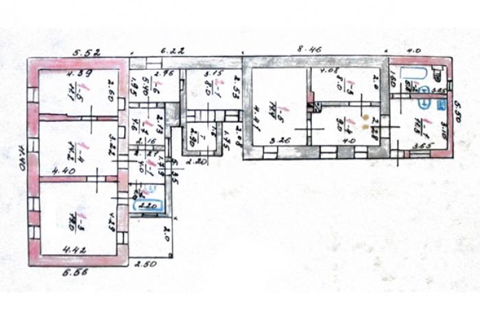 Продаю два сблокированных дома в центре Феодосии.1-й дом: Общая площадь 73,3 м.к 62911
