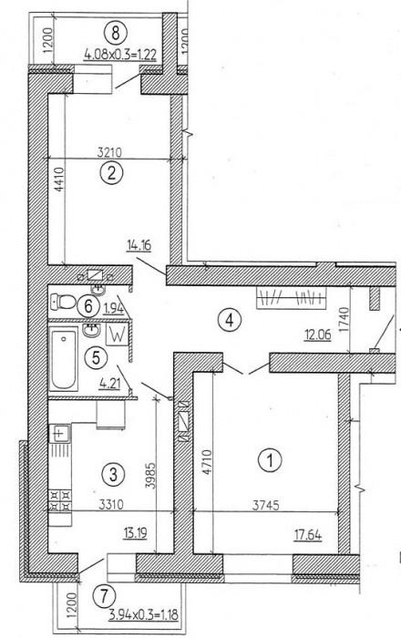 Квартира в новом кирпичном доме. Без отделки. Высокий этаж. Двусторонняя планиро 61622