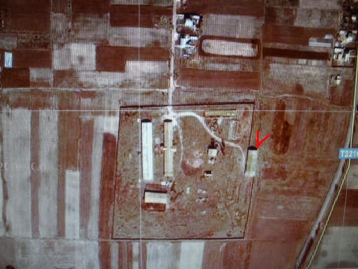 Склад - зернохранилище, 821 кв.м., фундамент - бутобетон, полы - цемент, крыша - 64423