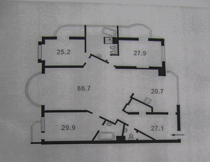 продаю 4-х. комнатную квартиру, общей площадью 286.4/169.7/20.7кв.м., в престижн 61943