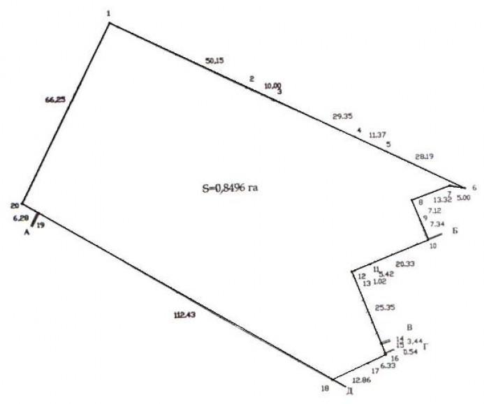 Продам участок под строительство торгового комплекса г.ГорловкаПлощадь участка:  63195