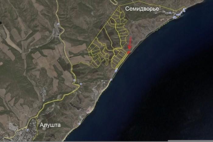 3 участка по 10 соток в Алуште (Семидворье, микрорайон Сказка), в 20 метрах от м 63221