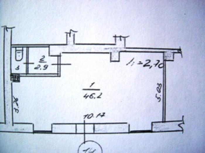 Помещение Магазин,офис,общ.пл. 52м2,1/3 эт.,h=3,отличное состояние,телефон,2 вит 641104