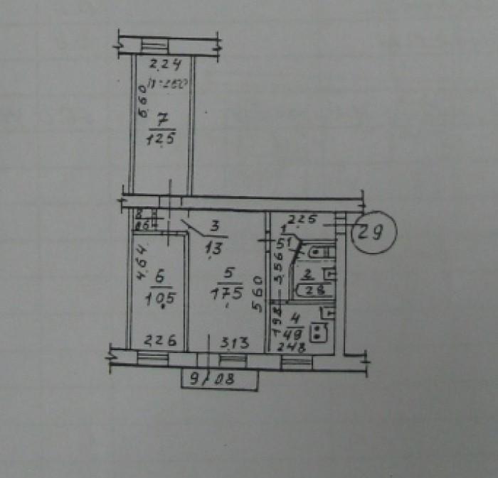 Телевизионная, 2/5  р-он юр. Академии, 57/40/6 под ремонт 48 000у.е. 612751