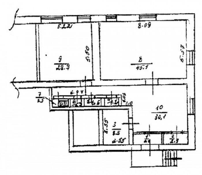 Сдам/Продам Офис 122 кв.м, красная линия, 4 комнаты, сигнализации, счетчики, мес 641183