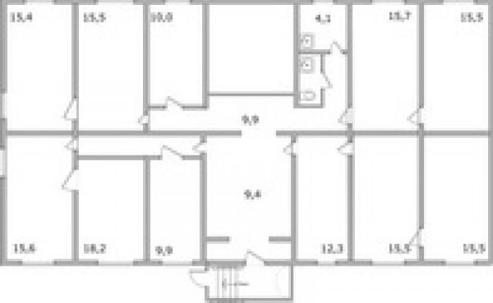 Офис, нежилое помещение,  в центре г.Мариуполь, 190 кв.м., 11 кабинетов, все ком 641265