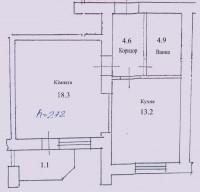 1-кімнатна квартира, вул. Розточчя, 42/18/13/5, 6 поверх/9 поверхового будинкуНо 612999