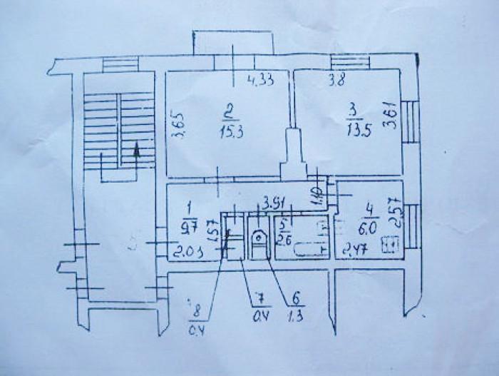 Продам 2-х ком.кв (сталинка) на 2-ом эт. 2-х эт. дома в г. Бердянске по ул. Своб 613610