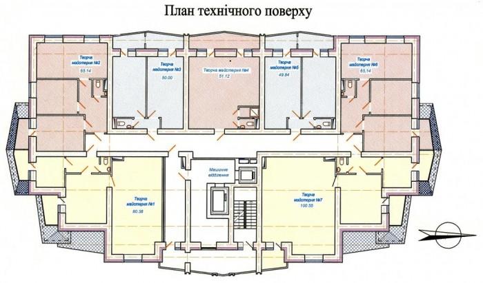 Продам помещение в новом 25-этажном монолитно-каркасном доме. Нежилые помещения  641431