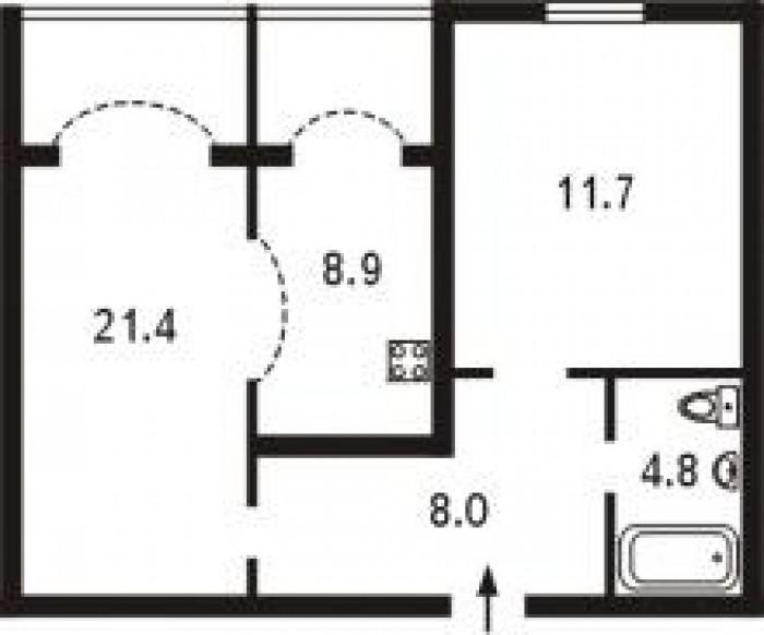 068 35759536034122х комнатная с евроремонтомевроремонт, встр кухня, холодильник, 613884