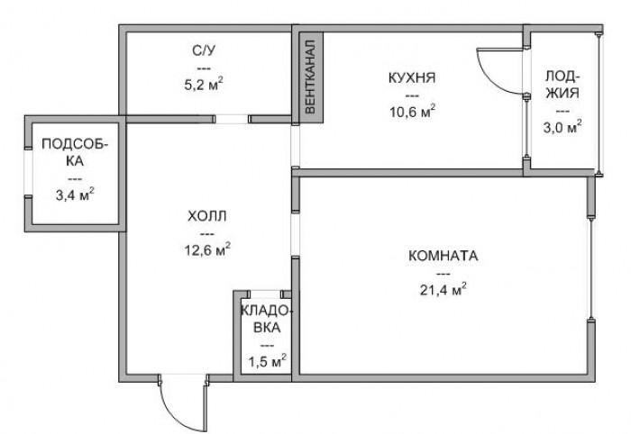 Продается 1-комнатная квартира в ЖК Европейский. ЖК Европейский - дом бизнес-кла 614122