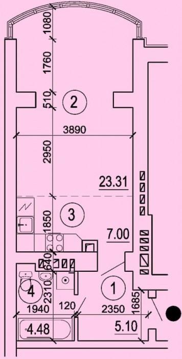 Светлая, уютная квартира с эркерной зоной с видом на реку!Современная планировка 614210