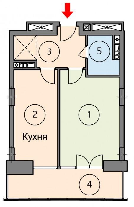 Продам квартиру в уютном жилом комплексе VIP уровня по адресу пр. Победы,42.  ВИ 614455