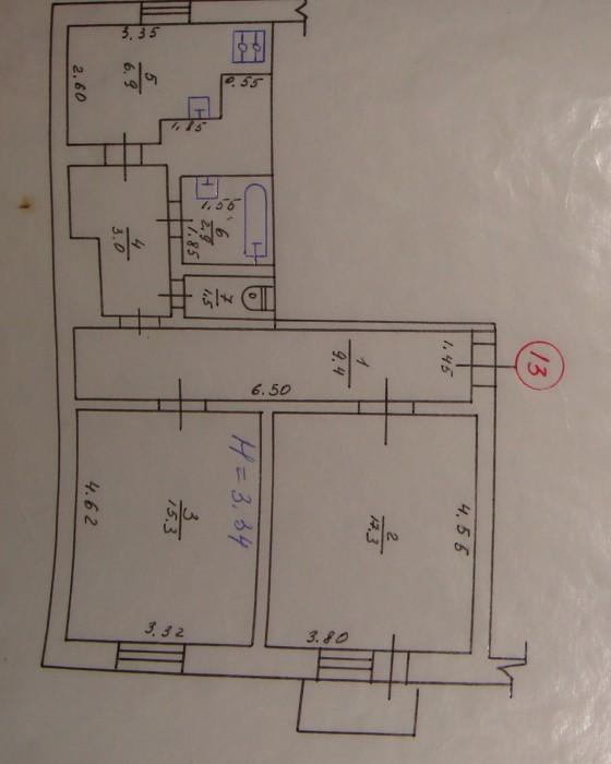 Продам 2 к.кв. на Данилевского, 58 м.кв., 100  ж/б, двухсторонняя, чистейший под 614560