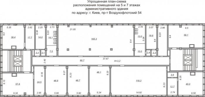 Продаются два этажа в 9-ти этажном здании 641774