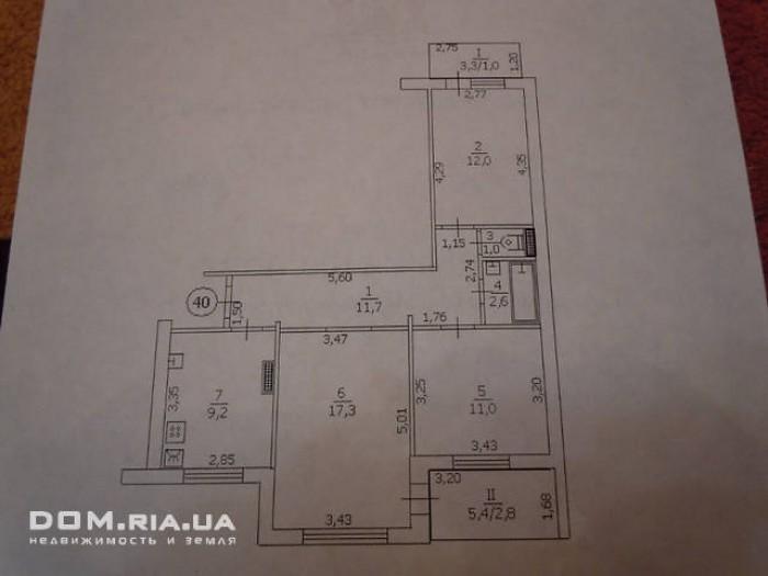 3-х комнатная квартира, автономное отопление,лоджия и балкон застеклены и отапли 614647