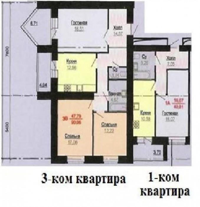 Продаются 1 и 3 комнатные квартиры в Административно-жилом комплексе в районе ж/ 614678
