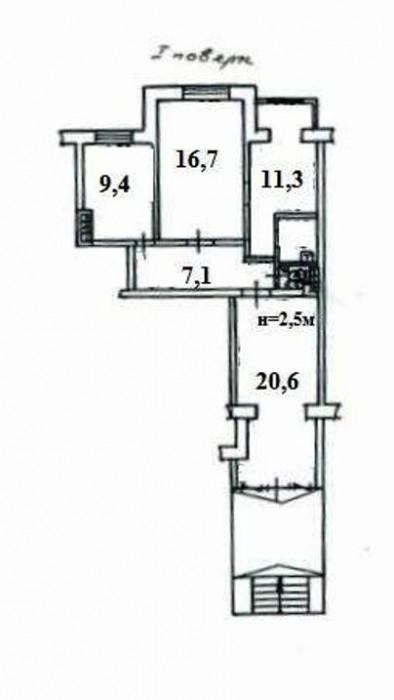 Продам помещение на ул.Ак.Королёва. Офис расположен на 1-ом этаже 9-ти этажного  641852