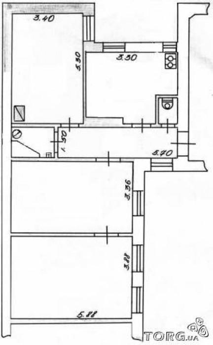 Продам квартиру в центре города, ул. Головна, 3/4, пл. 90/60/15 м.кв., ремонт, и 614774