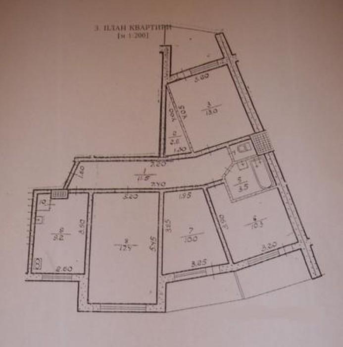 Обухов, ул.Киевская,115. 4-х комнатная квартира, общ.пл. 86519 79эт.панельного д 614795