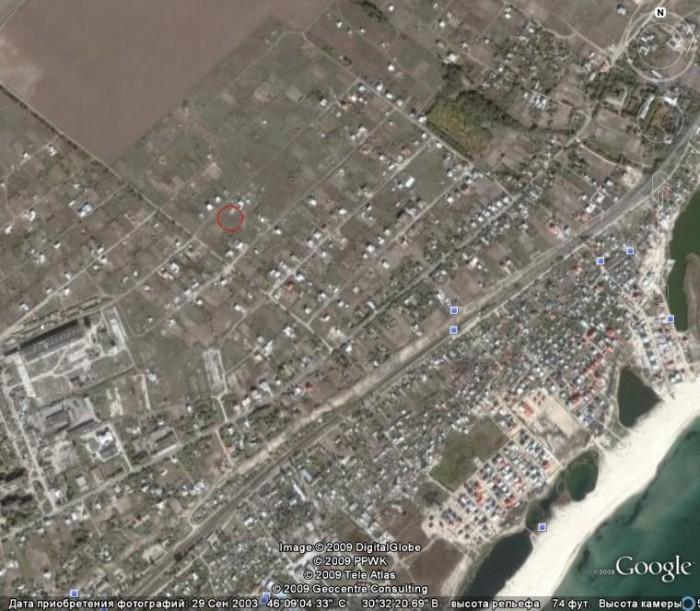 Участок правильной формы 13,7 соток, 29 х 47 м, возле моря и Днестровского лиман 631108