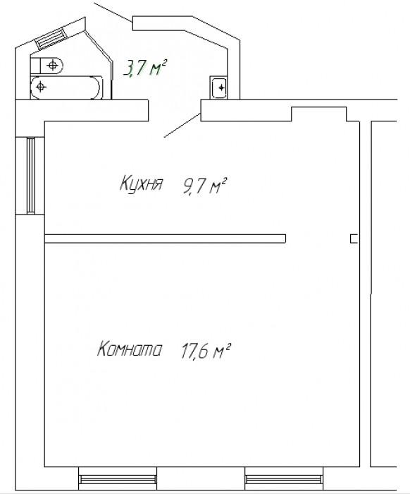 Продается своя однокомнатная квартира в Симферополе, р-н ул. Красноармейская (Ст 614917
