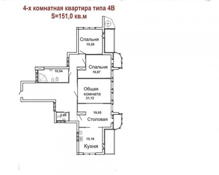Продам 4-х ком.кв. в новострое, 1400 у.е./м.кв. Ворошиловский р-н., пр. Ватутина 615185