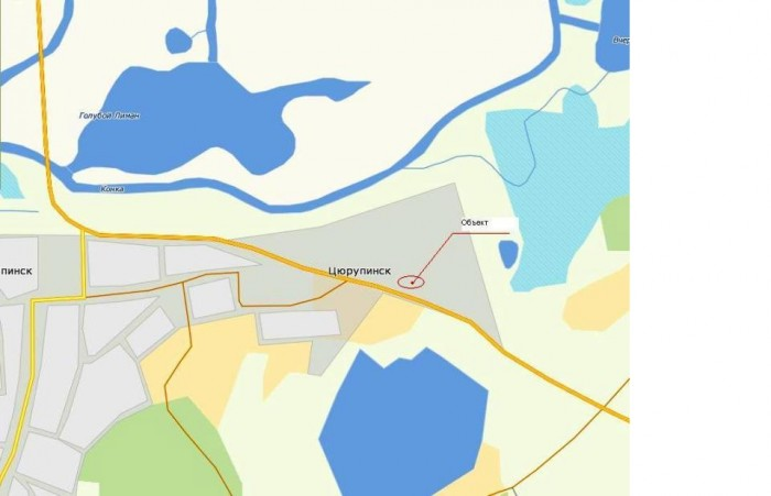 Продается территория для бизнеса в г. Цюрупинск Херсонской области. Участок земл 631193