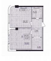 Продам свою 1-комн. квартиру,  55 кв. м.Новый строящийся жилой дом ЖК Александро 614475