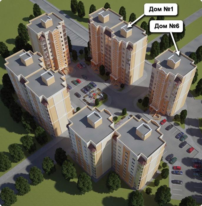 2ком. Бочарова/Сахарова Новый комплекс домов  расположен на пересечении улиц Ген 615910