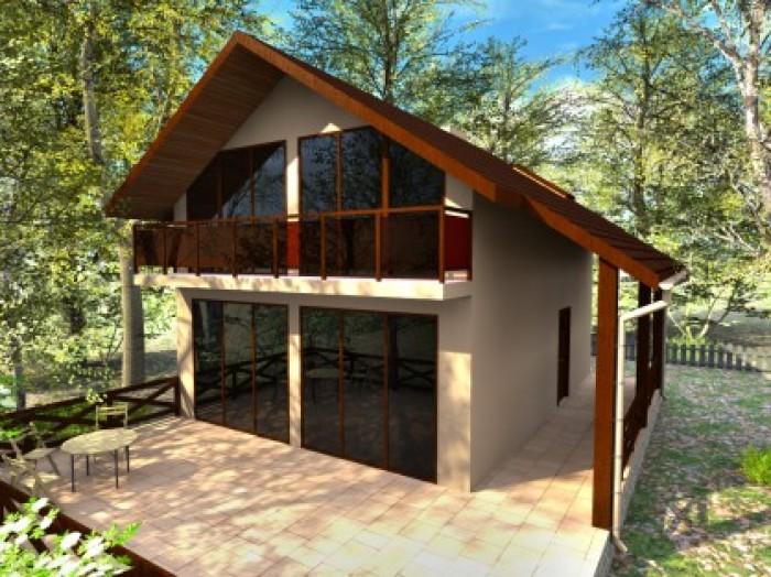 Дом 120 м кв. Отлично подойдет для любой семьи. Современный дизайн фасада, удобн 622837