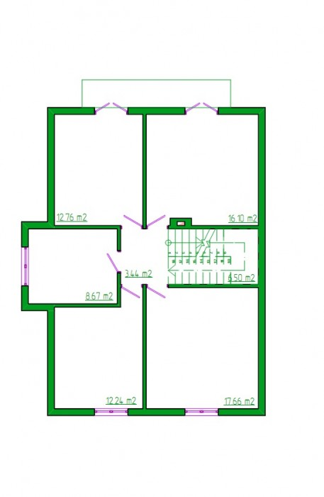 Зеленый Бор, коттедж 152 кв.м.,  2 этажа, встроенный гараж на 1 автомобиль; перв 622857