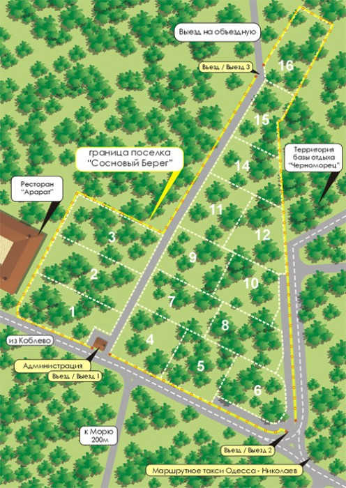 Земельный участок находится на территории курорта Коблево, который объединяет в  631432