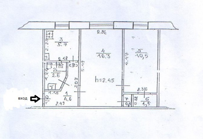 Офис, ул.Демехина, центр города, полуподвальное помещение, три комнаты - 10,5кв. 642696