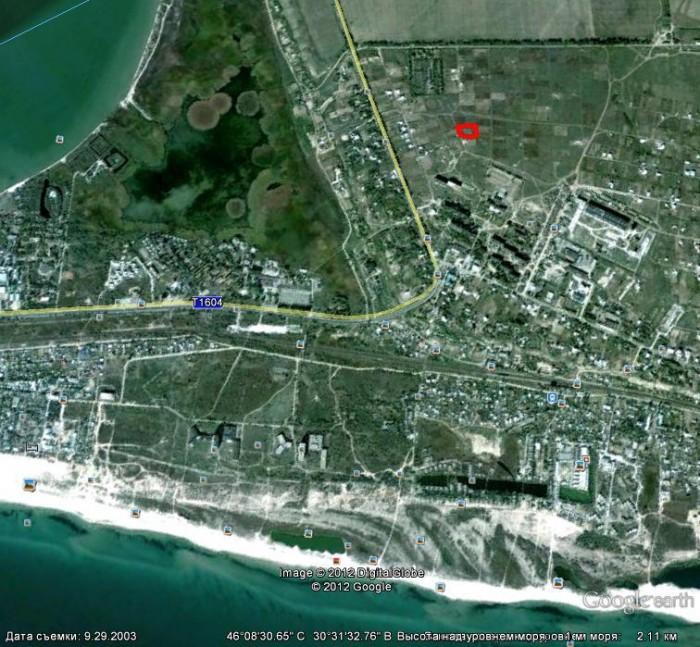 Участок правильной формы 24,4 соток, 45 х 57 м, возле моря и Днестровского лиман 631456