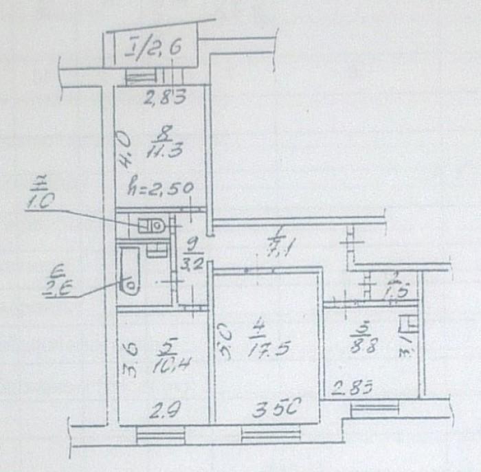 Продам 3-х комнатную квартиру на жм Победа 6! Удачное месторасположение дома, от 616839